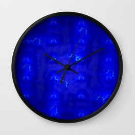 Blue lights, blue shadows ... Wall Clock