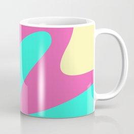 Abstraction. Cheerful multicolored waves. Coffee Mug