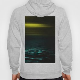 Yellow sky and blue sea at twilight Hoody