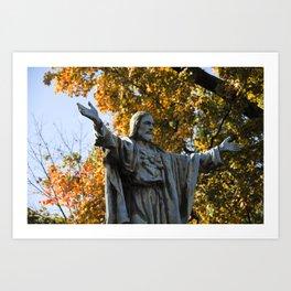 Notre Dame Fall Art Print