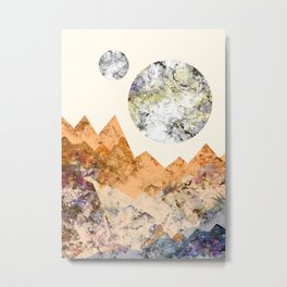 The two textured moons Metal Print