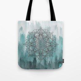 Blue Abstract Mandala Tote Bag