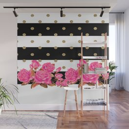 Goldy Flowers Wall Mural