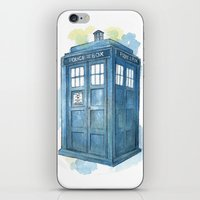 dr who iPhone & iPod Skins featuring Dr Who by Iris Illustration