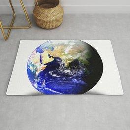 Earth Globe East Shadow Rug