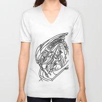 garrus V-neck T-shirts featuring Garrus by Cat Milchard