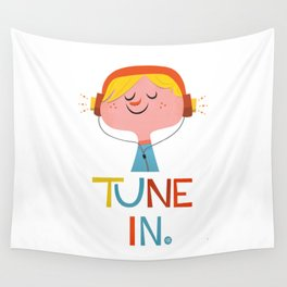 Tune in. Wall Tapestry