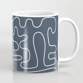 Abstract Lines 2 blue and white Coffee Mug