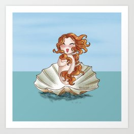 Venus Boticelli inspired Art Print