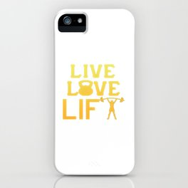 LIVE - LOVE - LIFT like a Girl iPhone Case