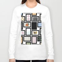 frames Long Sleeve T-shirts featuring Wall of Frames by Natalie North