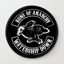 BUNS OF ANARCHY Wall Clock