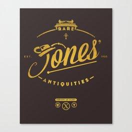 """Jones' Rare Antiquities"" - gold version Canvas Print"