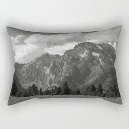 Mountain with Clouds and Snow Rectangular Pillow