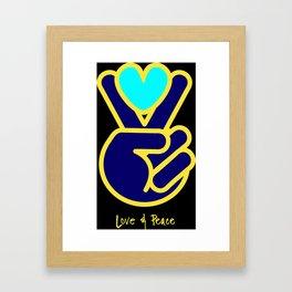 Love & Peace Framed Art Print