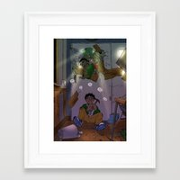 yowamushi pedal Framed Art Prints featuring Pedal Zombies by AMC Art
