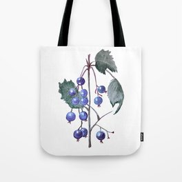 Watercolor Blueberries Tote Bag