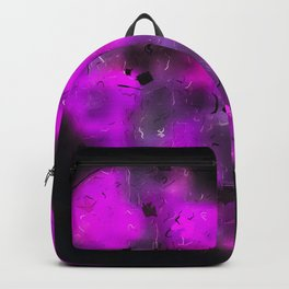 pink blurry heart shape with black background Backpack