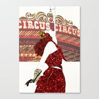 ruby Canvas Prints featuring Ruby by Kats Illustration