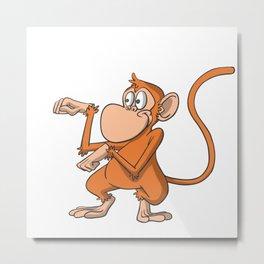 Monkey kung fu martial arts Metal Print