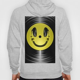 Vinyl headphone smiley Hoody