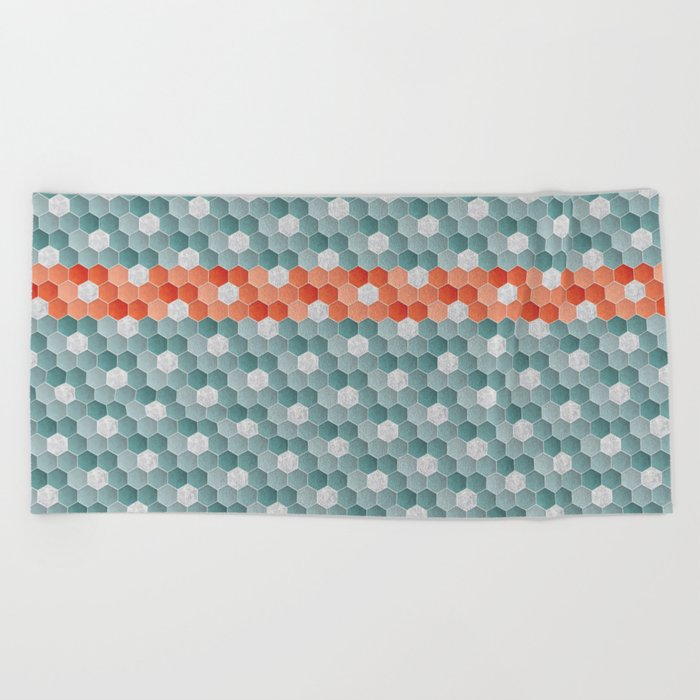The Red Line Beach Towel