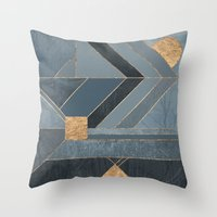 nordic Throw Pillows featuring Nordic Blue by Elisabeth Fredriksson
