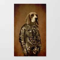 beagle Canvas Prints featuring Beagle by Durro
