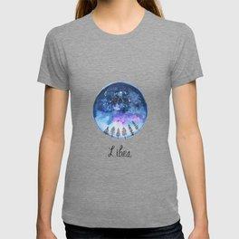 Libra Constellation Astrology Watercolour Galaxy Painting T-shirt