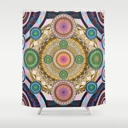 Psychedelic all up in yo' Grill Shower Curtain