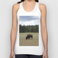 buffalo Tank Tops featuring Buffalo  by Taylor Palmer