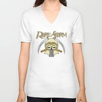 rare V-neck T-shirts featuring RARE FORM by DaeSyne Artworks