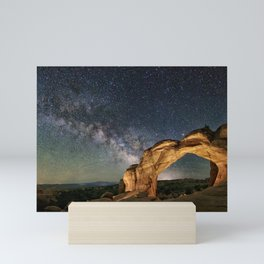 Broken Arch With The Rising Milky Way Mini Art Print