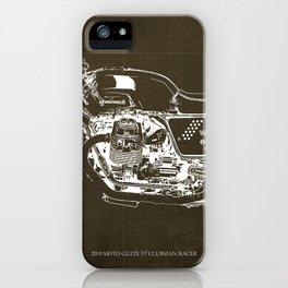 2010 Moto Guzzi V7 Clubman Racer brown blueprint iPhone Case