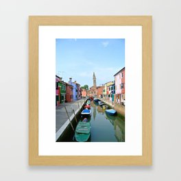 Leaning Tower in Burano Framed Art Print