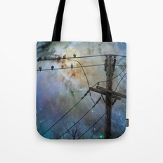Night Spark Tote Bag