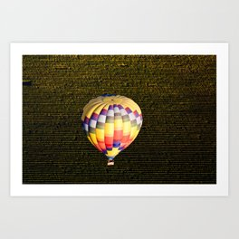 Balloon and Napa Vineyards Art Print