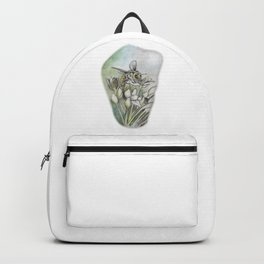 Bee and Flowers by annmariescreations Backpack