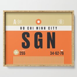 Baggage Tag A - SGN Ho Chi Minh City Vietnam Serving Tray