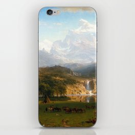 Albert Bierstadt The Rocky Mountains, Lander's Peak iPhone Skin