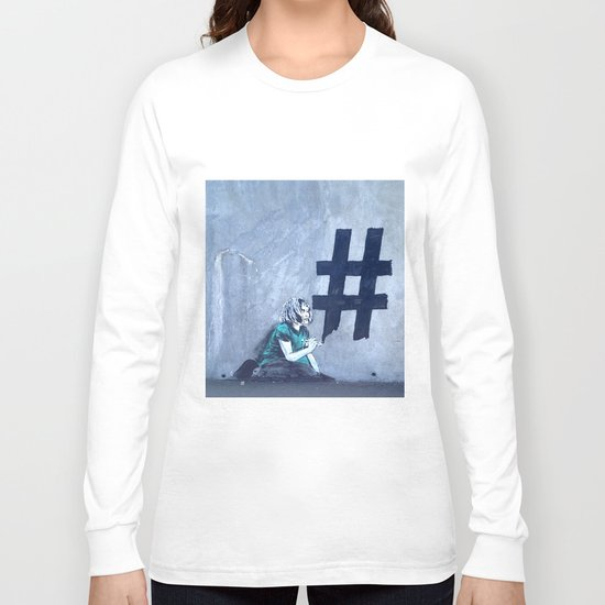 Grafitti # diese girl Long Sleeve T-shirt