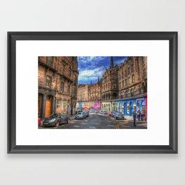 Victoria Street Edinburgh Framed Art Print