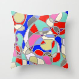 Stain Glass Abstract Meditation Painting 1 Throw Pillow