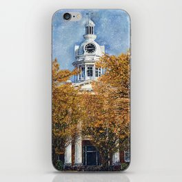 Courthouse in Autumn iPhone Skin