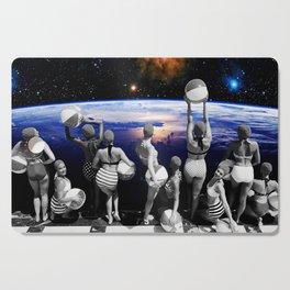 Space Pool Cutting Board