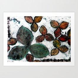 Winter Leafy Days Art Print