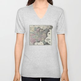 United States shewing the military stations, forts-1861 Unisex V-Neck