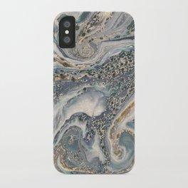 Metallic Paper Marble iPhone Case