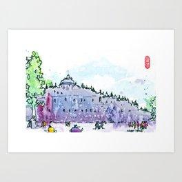 20160828-6 Borobudur Art Print