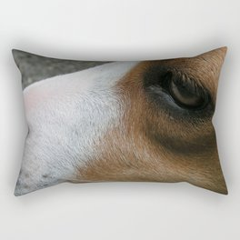 Louise A Boxer Mix Rectangular Pillow